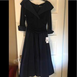 89eacad1d482 Jessica Howard Dresses - Jessica Howard Portrait Collar A-line Dress Navy